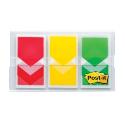 Post-it Prioritization Flags RED  YELLOW  GREEN 60 PER PACK .94 IN X 1.7 IN