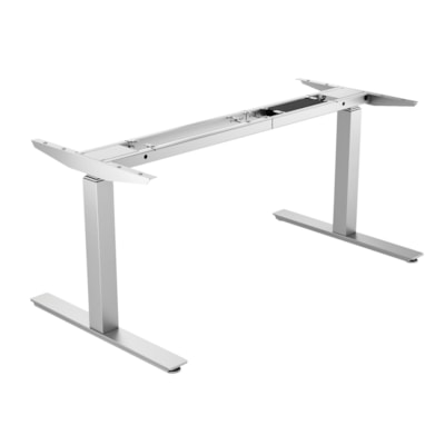 """ergoCentric upCentric Electric Height-Adjustable Table Frame ELECTRIC  SILVER 22"""" FRAME  WIDTH ADJUSTABLE"""