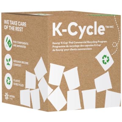 Boîte K-Cycle du programme de recyclage de capsules K-Cup de Keurig pour les clients commerciaux, petit format, capacité de 175 KCUP CAPACITY 175 9.75 X 9.75 X 9.75