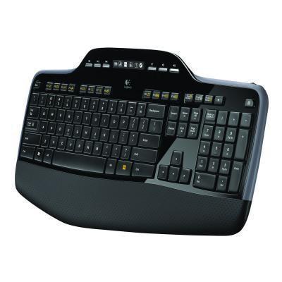 Logitech Wireless Desktop Keyboard and Mouse Set, English, Black (MK710)