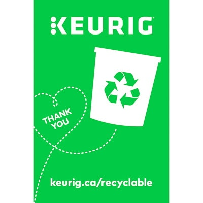 Keurig K-Cycle K-Cup Pod Commercial Recycling Program Box, Large, 400 K-Cup Capacity KCUP CAPACITY 400 9.75 X 9.75 X 23.75