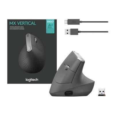 LOGITECH MX VERTICAL MOUSE ADVANCED ERGONOMIC USB  BLUETOOTH  2.4GHZ