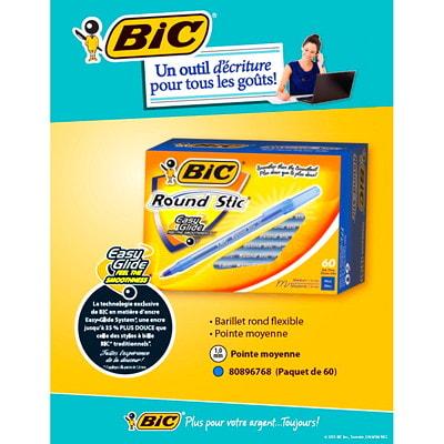 BIC Round Stic Ballpoint Stick Pens, Blue, Medium Tip, 60/BX BULK BOX 60 PENS PER PK