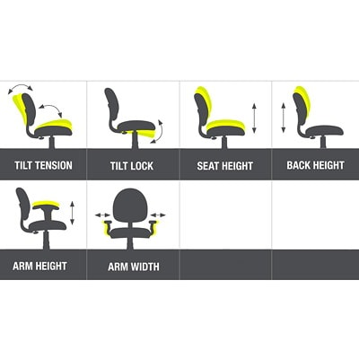 Offices to Go Format High-Back Simple Synchro-Tilt Chair, Fully Assembled, Echo Black Terrace Fabric Seat/Mesh Back HIGH BACK  SYNCHRO TILTER FULLY ASSEMBLED