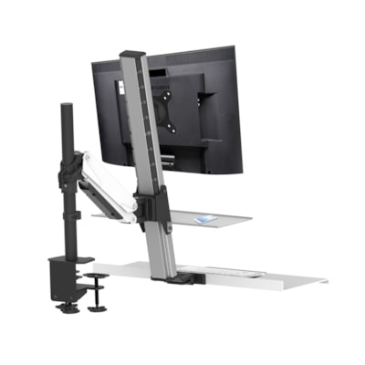 """Rocelco 16"""" Accessory Tray for Floating Desk Mount Workstation, White co EFD"""