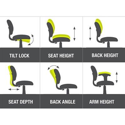 ergoCentric uCentric Ergonomic High-Back Multi-Tilt Chair LARGE SEAT  BLACK VINYL HEIGHT/WIDTH ADJ. SWIVEL ARMS