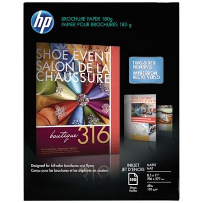 Papier mat pour impression à jet d'encre de brochures HP MAT 8.5X11 150 FEUILLES
