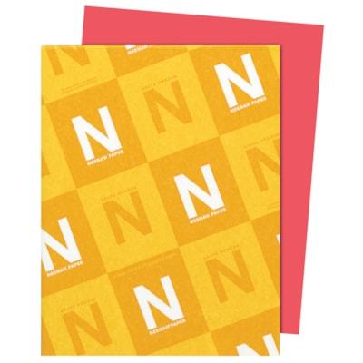 Papier Astrobrights Neenah, rouge fusée, format lettre, certifié FSC et Green Seal, 24 lb, rame FSC LASER INKJET GUARANTEED ROCKET RED