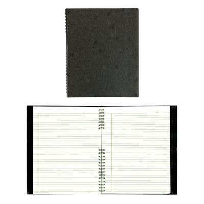 Cahier à spirale NotePro Blueline NOIR  200P. 10-3/4X8-1/2 PAPIER 100% RECYCLé