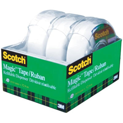 Scotch Magic Tape with Refillable Dispensers Value Pack VALUE PACK  DISPENSERED