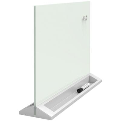 "Quartet Glass Desktop Dry-Erase Panel, 23"" x 17"" DRY-ERASE PANEL"
