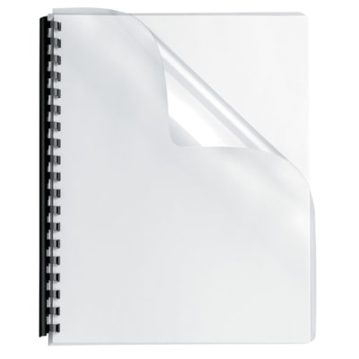 Fellowes Letter-Size Transparent Binder Covers With Square Corners LETTER SIZE 100 PACK