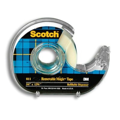 Scotch Removable Magic Tape with Dispenser REMOVABLE WIDE 33M LONG HOLDS FIRMLY YET REMOVES CLEANLY