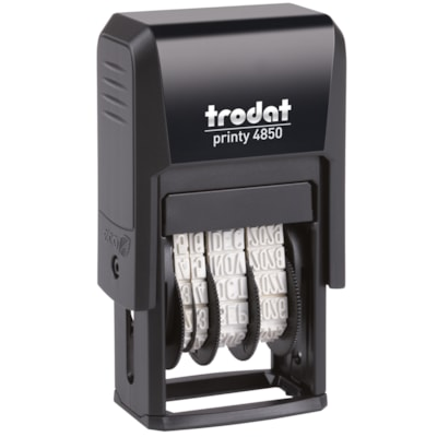 Trodat Printy 4850 Self-Inking Mini Dater With Received Text 10 YEAR BAND TEXT BLU DATE RED MINI PHRASE