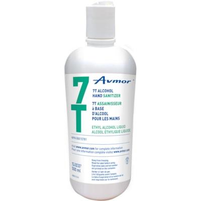 Avmor 7T Gel Alcohol Hand Sanitizer, 70% Alcohol Content, 500 mL Flip Top Bottle SANITIZER 500-ML FLIP TOP