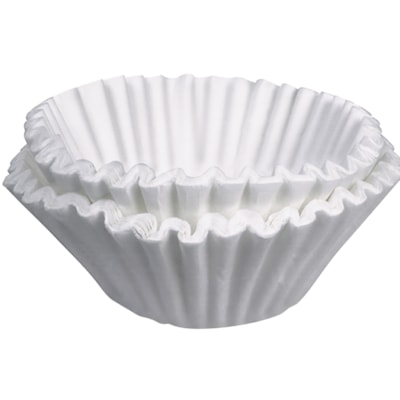 """Bunn 8-10 Cup Coffee Filters, White, 8 1/2"""" x 3"""", 100/PK PAPER RETAIL FILTERS 100/PKG"""