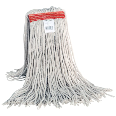Globe Commercial Products Cotton Wet Mop With Cut End, 20 oz EXCELLENT ABSORBENCY & RELEASE NOT LAUNDERABLE