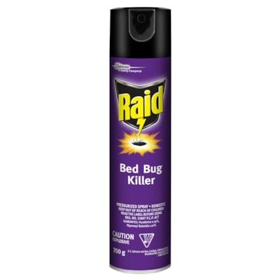 Raid Bed Bug Killer, Aerosol Spray, 350 g AEROSOL