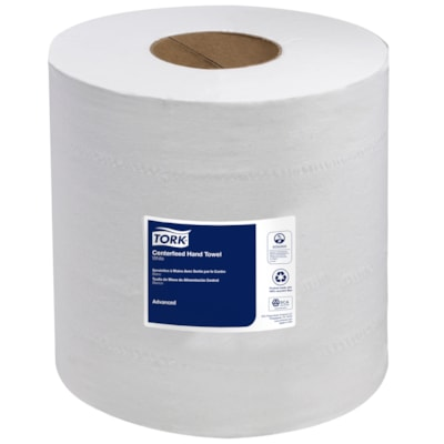 """Tork 2-Ply Advanced Soft Centerfeed Hand Paper Towels, White, 590', 6/CS WHITE 2-PLY 7.6""""X590' 600 SHEETS/ROLL"""