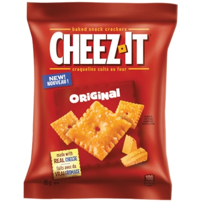 Cheez-It Baked Snack Crackers, Original, 85 g, 6/BX