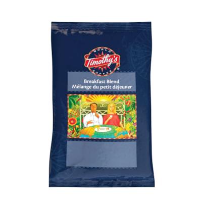 Timothy's Ground Coffee, Breakfast Blend, 24/Bx RAINFOREST ALLIANCE GROUND