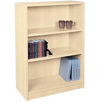 "HDL 3-Shelf Hardrock Maple Bookcase HARDROCK MAPLE FINISH 32""W X 14""D X 48""H"