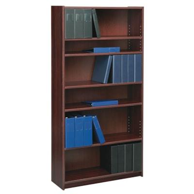 "Global Genoa 6-Shelf Bookcase, Mahogany MAHOGANY 36""WX12""DX72""H  GLOBAL"