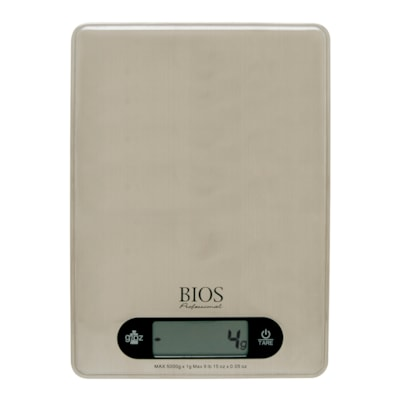 BIOS Living Stainless-Steel Portion Scale 2 X AAA BATTERIES INCLUDED