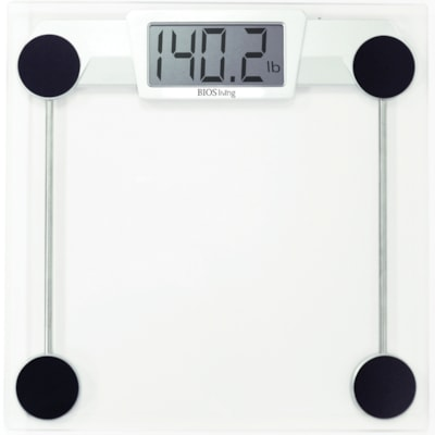 BIOS Living Glass Electronic Scale 330 LBS CAPACITY TEMPERED GLASS