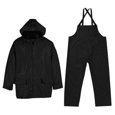 Viking PVC Handyman Suit, 3XL, Black .35MM INDUSTRIAL QUALITY BLACK