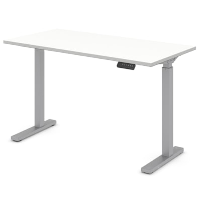 """Offices to Go Ionic 46"""" Electric Height-Adjustable Table Desk, Designer White ML4824ET2 DWT"""