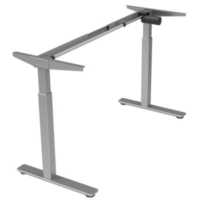 Offices to Go Ionic Electric Height-Adjustable 2-Leg Table Base, Silver (Base only) HEIGHT ADJUSTABLE TABLE