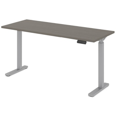 """Offices to Go Ionic 60"""" Electric Height Adjustable Table Desk, Absolute Acajou HEIGHT ADJUSTABLE TABLE"""