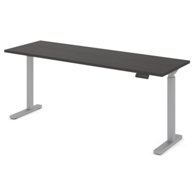 """Offices to Go Ionic Electric Height Adjustable Table Desk, Dark Espresso, 70""""W x 23""""D x 28"""" to 45 1/4""""H HEIGHT ADJUSTABLE TABLE"""