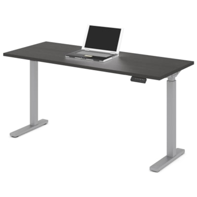 """Offices to Go Ionic Electric Height Adjustable Table Desk, Dark Espresso, 60""""W x 24""""D x 28"""" to 45 1/4""""H HEIGHT ADJUSTABLE TABLE"""