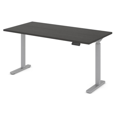 """Offices to Go Ionic 58"""" Electric Height Adjustable Table Desk, Dark Espresso HEIGHT ADJUSTABLE TABLE"""