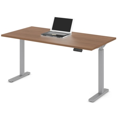 """Offices to Go Ionic 58"""" Electric Height Adjustable Table Desk, Winter Cherry HEIGHT ADJUSTABLE TABLE"""