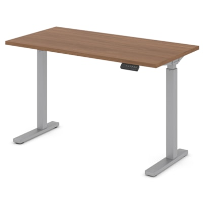 """Offices to Go Ionic 46"""" Electric Height-Adjustable Table Desk, Winter Cherry ML4824ET2 WCR"""