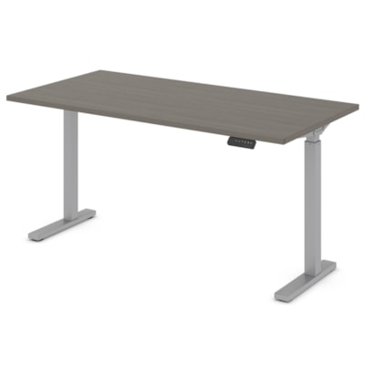 """Offices to Go Ionic 58"""" Electric Height Adjustable Table Desk, Absolute Acajou HEIGHT ADJUSTABLE TABLE"""