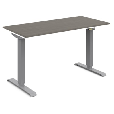 Global Foli 3-Stage Electric Height-Adjustable Table Base, Silver PH3T6601 SI