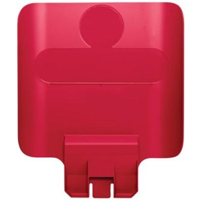 Panneau pour station de recyclage Slim Jim Rubbermaid Commercial, rouge