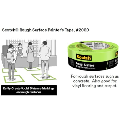 Scotch 2060 Rough Surface Painter's Tape, Green, 48 mm x 55 m   GREEN PAINTER'S TAPE