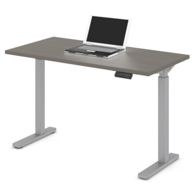 """Offices to Go Ionic 46"""" Electric Height-Adjustable Table Desk, Absolute Acajou ML4824ET2 ACJ"""