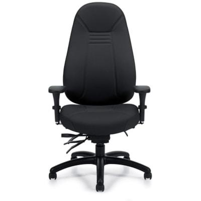 Global ObusForme Comfort High-Back Multi-Tilter Chair, Echo Black Terrace Fabric 1240-3 TC74 BLK G3 HP