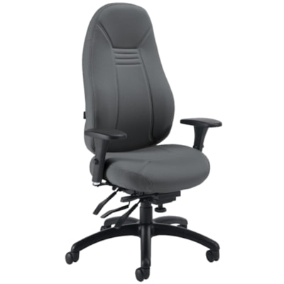 Global ObusForme Comfort High-Back Multi-Tilter Chair, Ironwork Grey Terrace Fabric Seat/Back 1240-3 TC71 BLK G3 HP