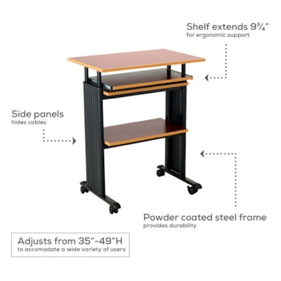 """Safco Muv Stand-Up Height-Adjustable Workstation, Grey, 29 1/2"""" x 22"""" x 35"""" HEIGHT ADJUSTABLE SAFCO"""
