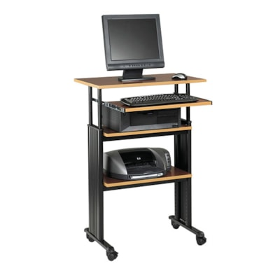 """Safco Muv Stand-Up Height-Adjustable Workstation, Cherry, 29 1/2"""" x 22"""" x 35"""" HEIGHT ADJUSTABLE SAFCO"""