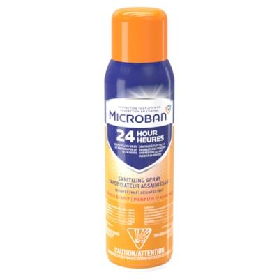 Microban 24-Hour Sanitizing Aerosol Spray, Citrus Scent, 425 g  AEROSOL