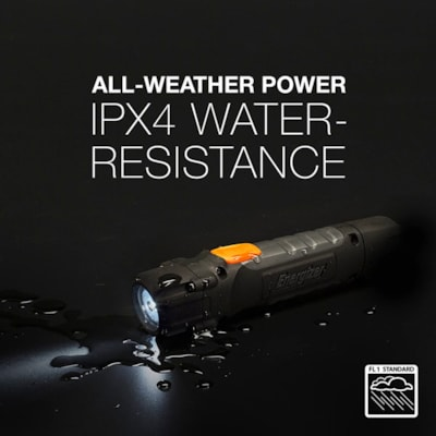 Energizer Hard Case Professional LED Task Flashlight, Black/Grey PROFESSIONAL SMALL LED BULB 2 BATTERIES INCLUDED