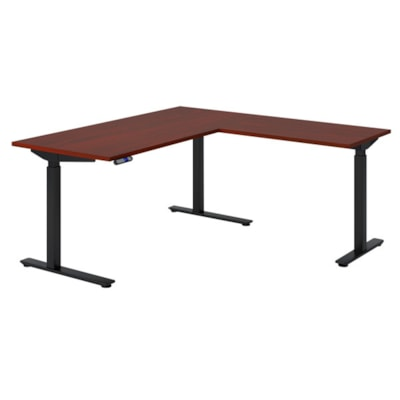 "HDL Innovations Height-Adjustable Return Table Top, Royal Mahogany, 36"" x 24""   ROYAL MAHOGANY FINISH 36""W X 24""D"
